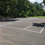 The finished basketball court