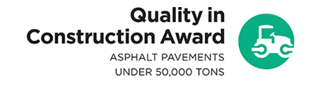 Quality in Construction Award: Asphalt Pavements under 50,000 tons