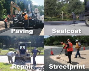 Paving, sealcoat, repair, and streetprint