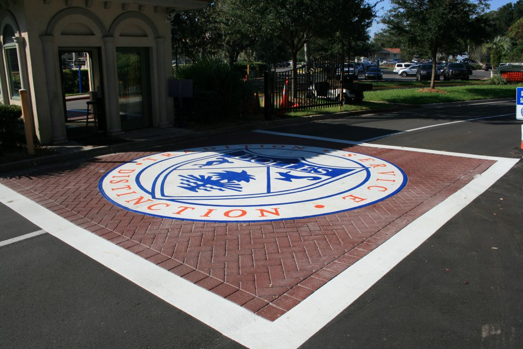 Bolles School Crest Decorative Asphalt