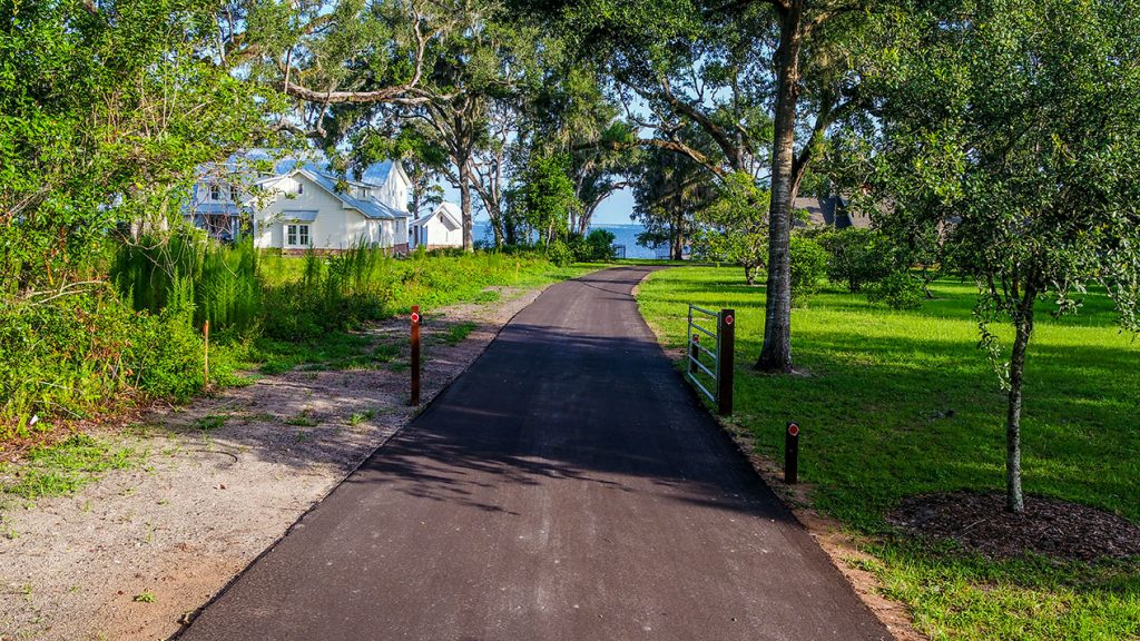 Picture of newly paved residential driveway.