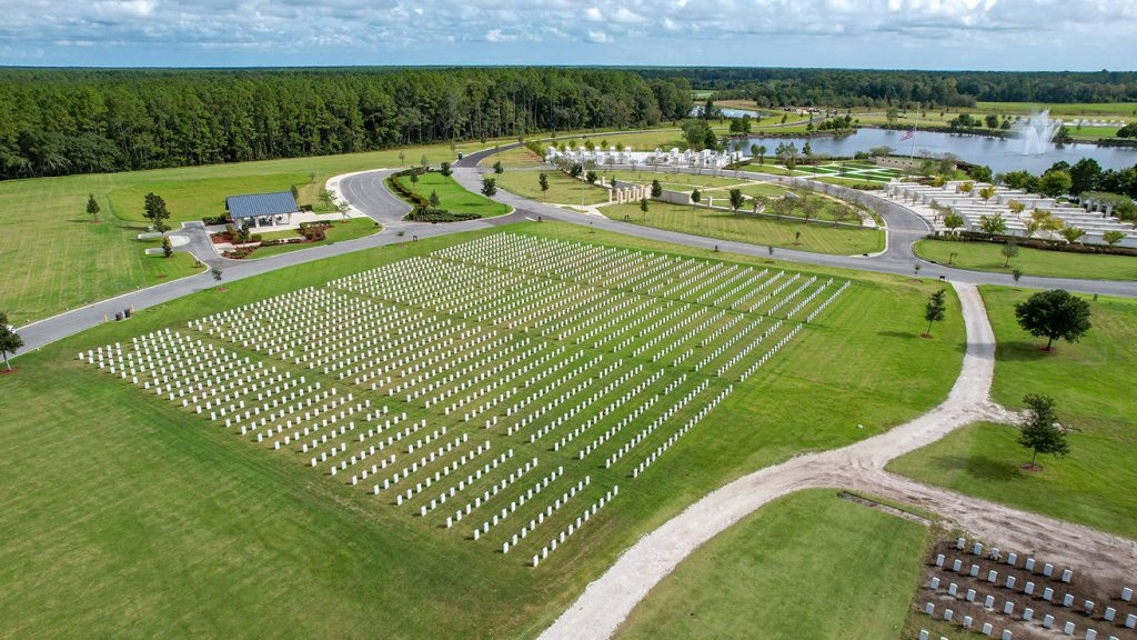 Jacksonville National Cemetery Overhead View